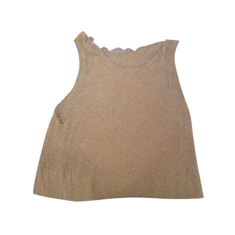 Top, tee-shirt VANESSA BRUNO Blanc, blanc cassé, écru