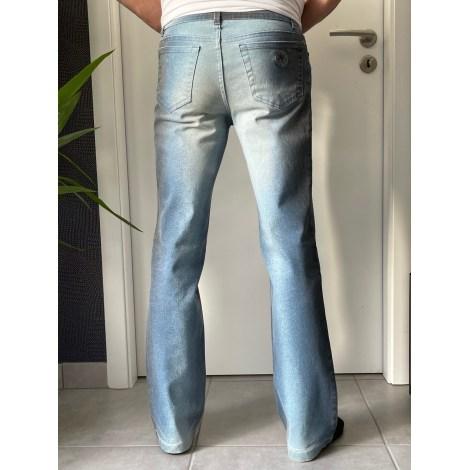 Pantalon droit ROBERTO CAVALLI Bleu, bleu marine, bleu turquoise