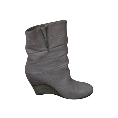 Bottines & low boots à compensés VIC MATIÉ Gris, anthracite