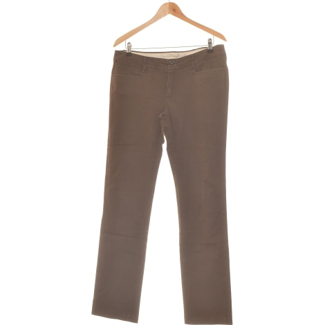 Pantalon droit MANGO Marron