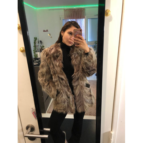 Manteau en fourrure FOURRURES Marron
