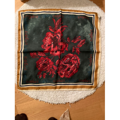 Foulard UNGARO Vert/rose/beige