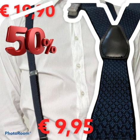 Suspenders PERFECTUM Blue, navy, turquoise