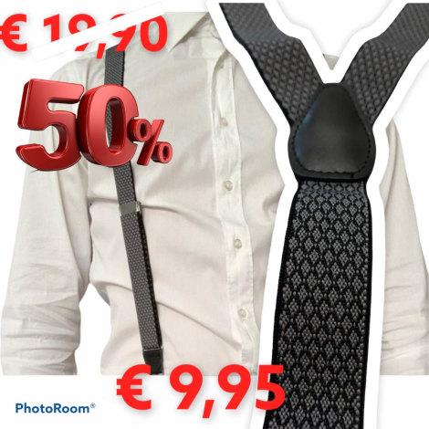 Suspenders PERFECTUM Gray, charcoal