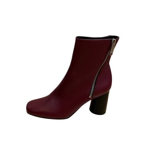 High Heel Ankle Boots CLAUDIE PIERLOT Red, burgundy