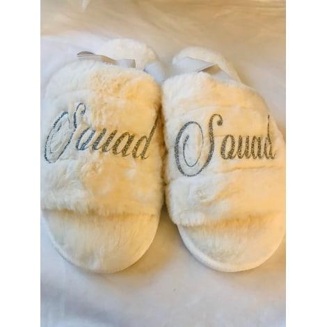 Chaussons & pantoufles SANS Blanc, blanc cassé, écru