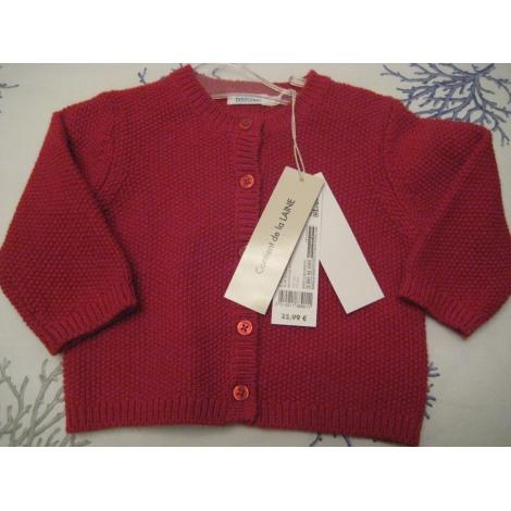 Vest, Cardigan BOUT'CHOU Red, burgundy