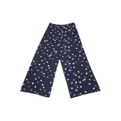 Pantalon large CHANEL Bleu, bleu marine, bleu turquoise