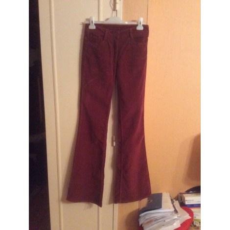 Pantalon large SANDRO Maron,bordeau
