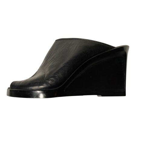 Wedge Sandals YVES SAINT LAURENT Black