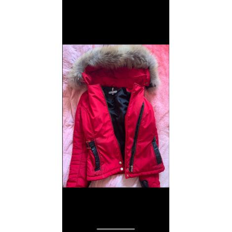 Manteau en fourrure VENTIUNO Rouge, bordeaux