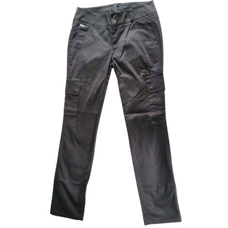 Pantalon slim, cigarette IKKS Noir