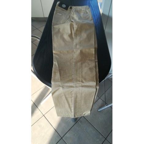 Pantalon droit TRUSSARDI JEANS Doré, bronze, cuivre
