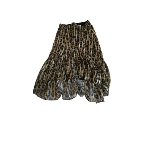 Jupe longue BA&SH Doré, bronze, cuivre