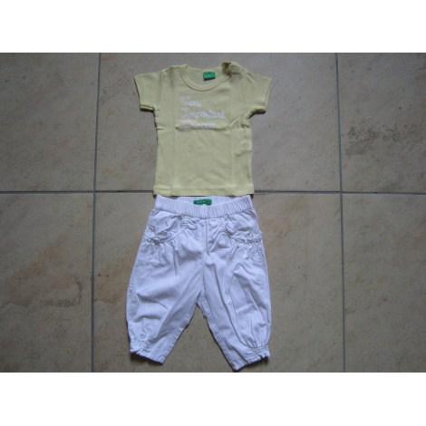 Ensemble & Combinaison pantalon BENETTON BABY blanc et jaune