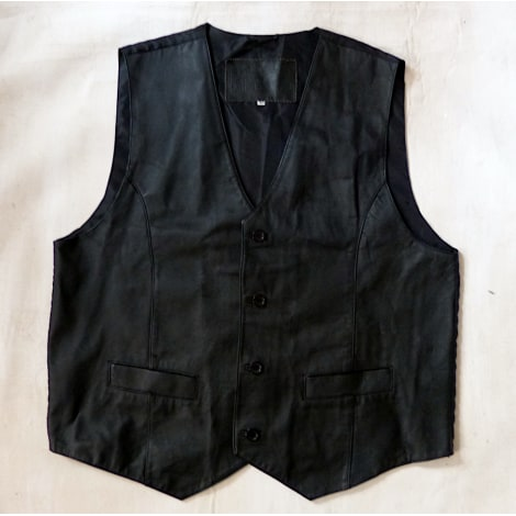 Veste en cuir ASTO Noir
