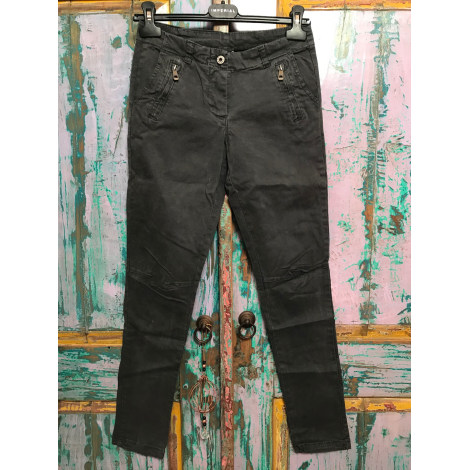 Pantalon droit MADE IN ITALIE Gris, anthracite