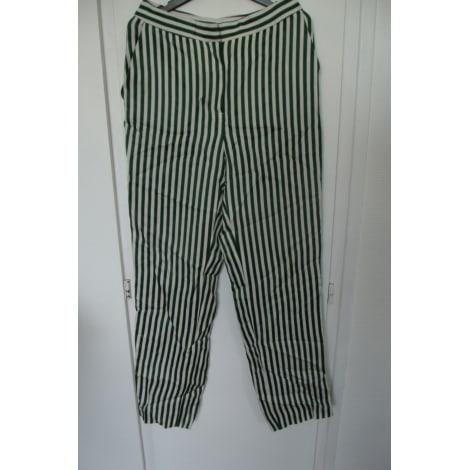 Pantalon droit MASSIMO DUTTI Vert