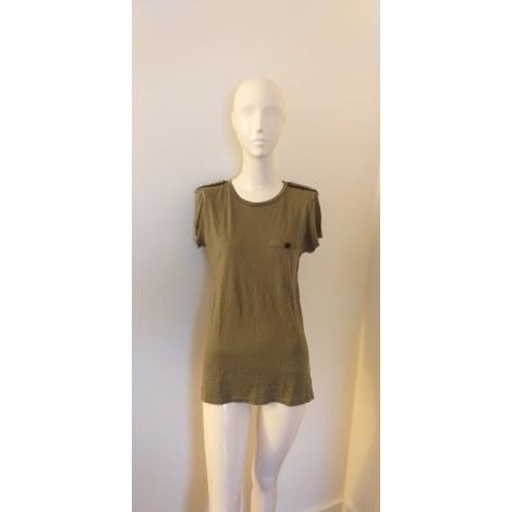 Top, tee-shirt ZARA Vert