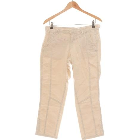 Pantalon droit CAMAIEU Beige, camel