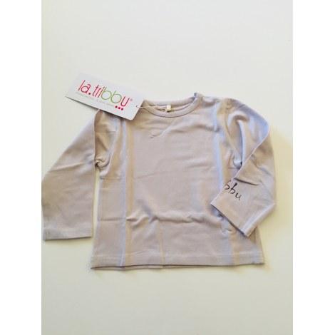 Top, tee shirt LA TRIBBU Violet, mauve, lavande