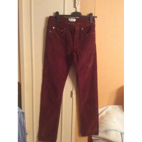 Pantalon droit SANDRO Marron