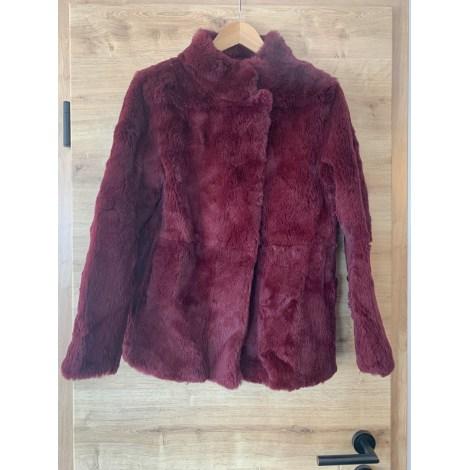Manteau en fourrure CLAUDIE PIERLOT Rouge, bordeaux