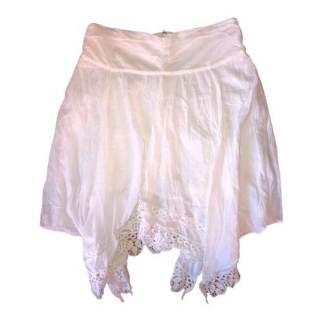 Jupe mi-longue ISABEL MARANT ETOILE Blanc, blanc cassé, écru