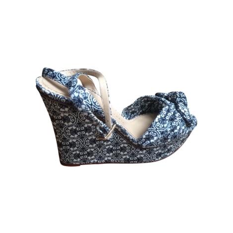 Sandales compensées CHARLOTTE OLYMPIA Bleu, bleu marine, bleu turquoise