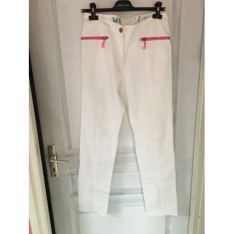 Pantalon droit MARIA GRAZIA SEVERI Blanc, blanc cassé, écru