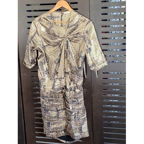 Robe courte ISABEL MARANT Doré, bronze, cuivre