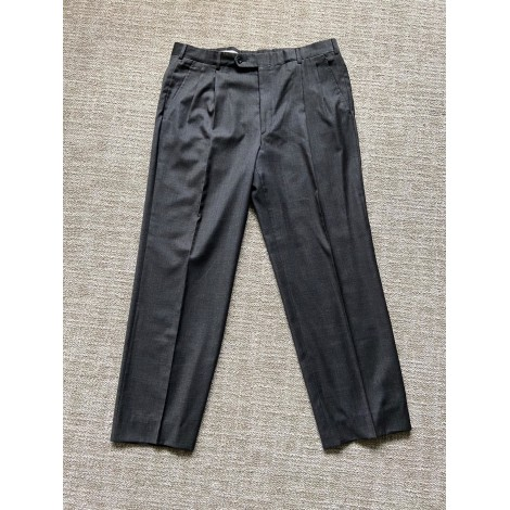 Pantalon large HERMÈS Gris, anthracite