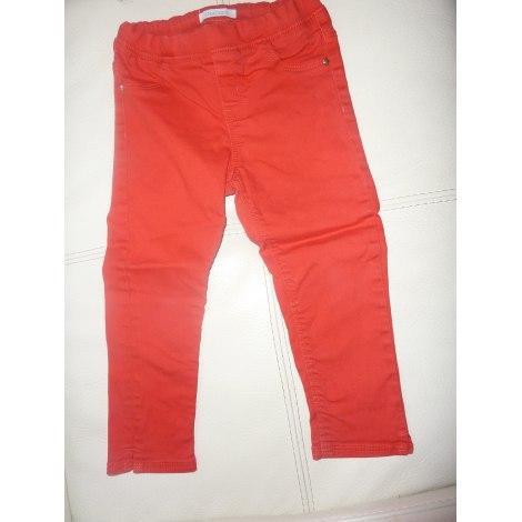 Pantalon OKAÏDI Rouge, bordeaux