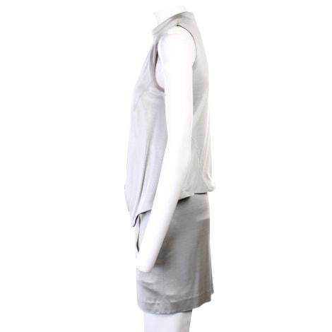 Robe courte BALENCIAGA Gris, anthracite