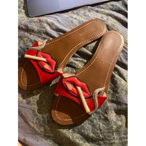Sandales plates  PRADA Rouge, bordeaux