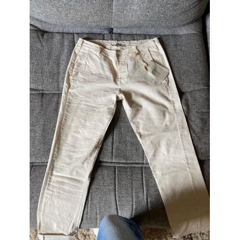 Pantalon droit SPAZIO DONNA Beige, camel