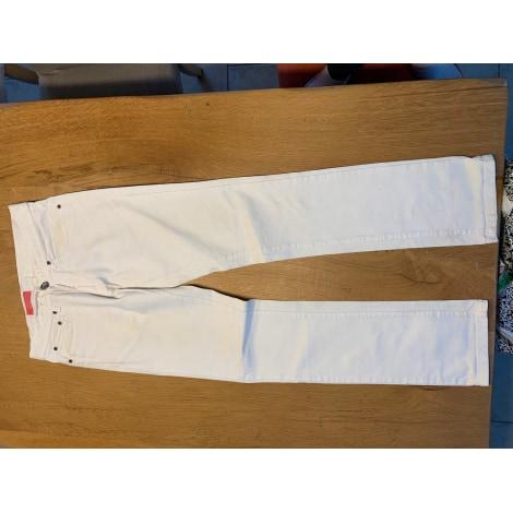 Straight Leg Jeans ZARA White, off-white, ecru