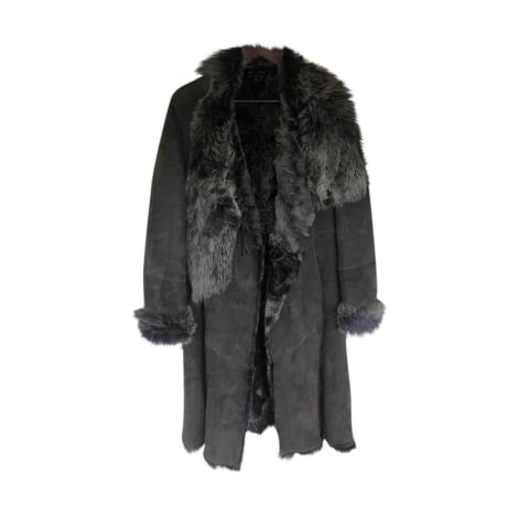 Manteau en fourrure HUGO BOSS Gris, anthracite