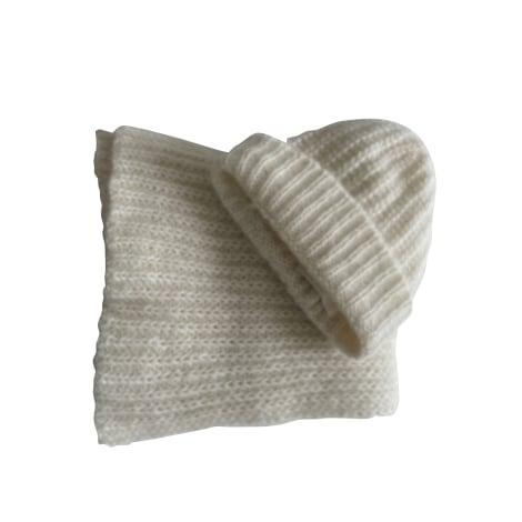 Bonnet BA&SH Blanc, blanc cassé, écru