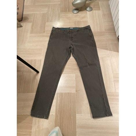 Jeans droit SERGE BLANCO Kaki