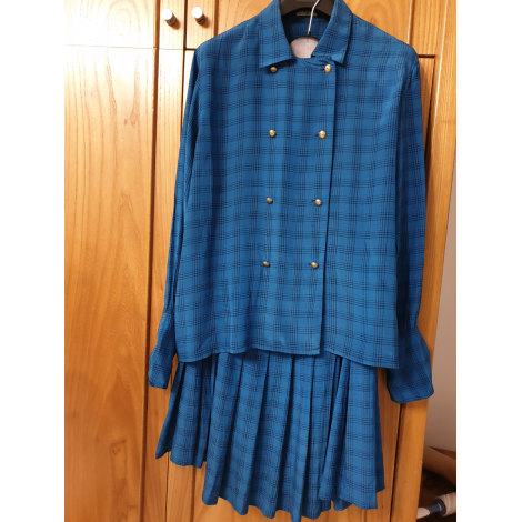 Tailleur jupe CHANEL Bleu, bleu marine, bleu turquoise