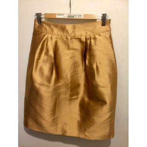 Jupe mi-longue BURBERRY Doré, bronze, cuivre