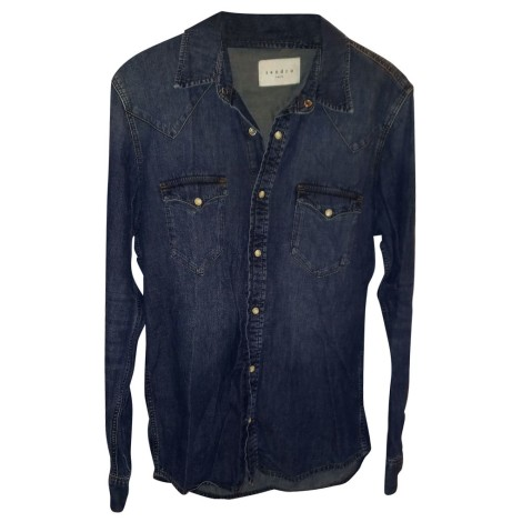 Shirt SANDRO Blue, navy, turquoise