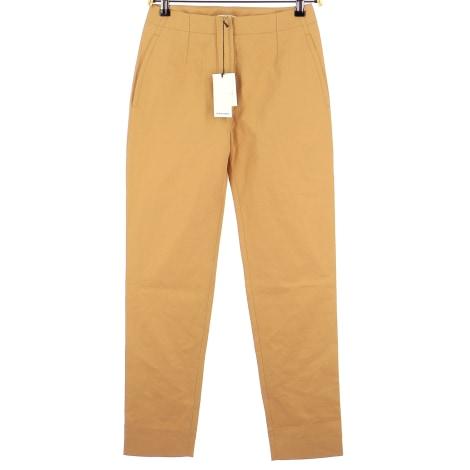 Pantalon droit CARVEN Doré, bronze, cuivre