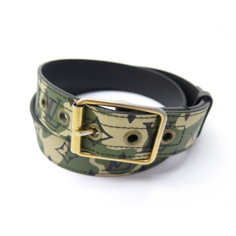 Ceinture large LOUIS VUITTON Kaki