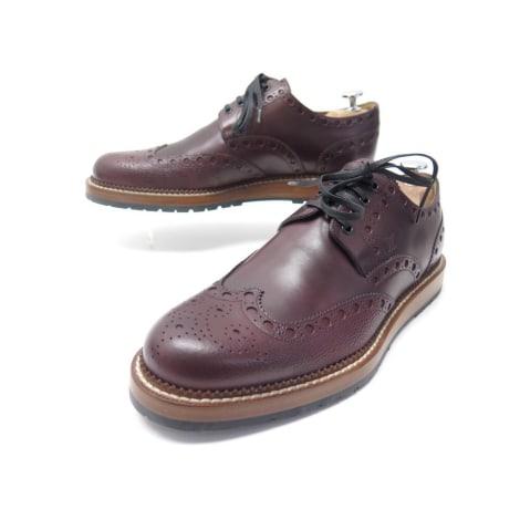 Chaussures à lacets LOUIS VUITTON Bordeaux