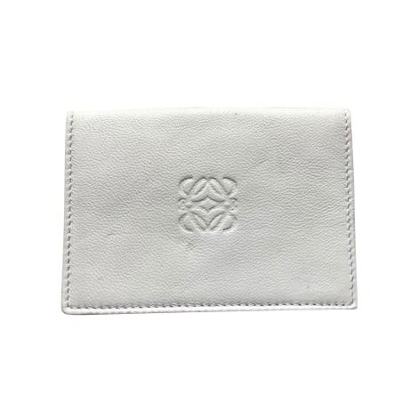 Porte-cartes LOEWE Blanc, blanc cassé, écru