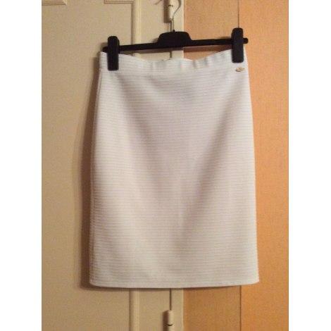 Jupe mi-longue GUESS Blanc, blanc cassé, écru