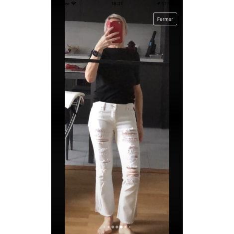 Jeans évasé, boot-cut IRO Blanc, blanc cassé, écru