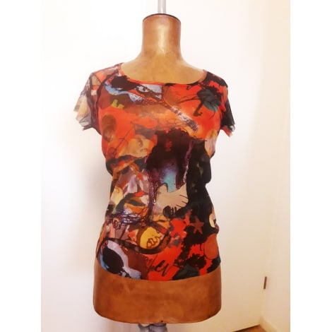 Top, tee-shirt MADAME ZAZA OF MARSEILLE Rouge, bordeaux